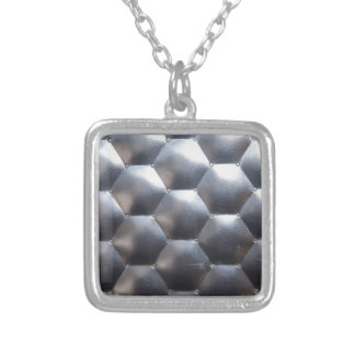 steel #3 silver plated necklace