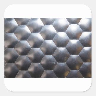 steel #3 square sticker