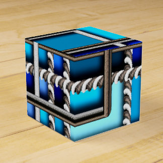 Steel and blue favor box