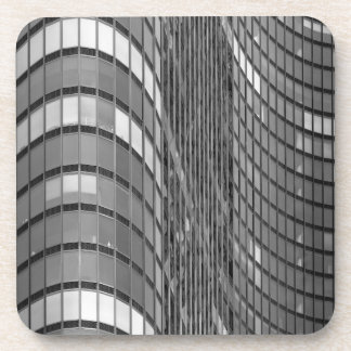 Steel and glass curtain wall of modern beverage coasters