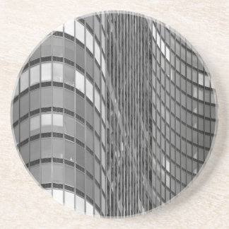 Steel and glass curtain wall of modern drink coasters