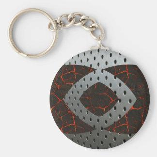 Steel and Lava Keychain
