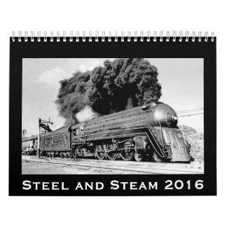 Steel and Steam 2016 Vintage Railroad Locomotives Calendar