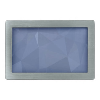 Steel Blue Abstract Low Polygon Background Belt Buckle