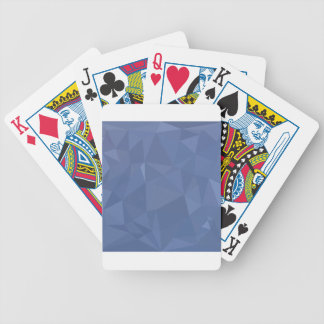 Steel Blue Abstract Low Polygon Background Bicycle Playing Cards