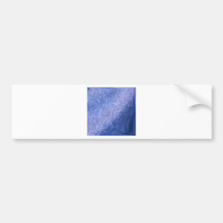 Steel Blue Abstract Low Polygon Background Bumper Sticker