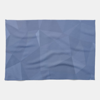 Steel Blue Abstract Low Polygon Background Kitchen Towel