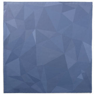 Steel Blue Abstract Low Polygon Background Napkin