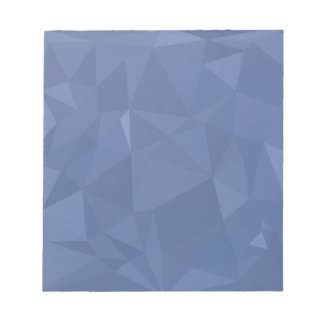 Steel Blue Abstract Low Polygon Background Notepad