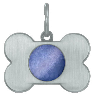 Steel Blue Abstract Low Polygon Background Pet Name Tag