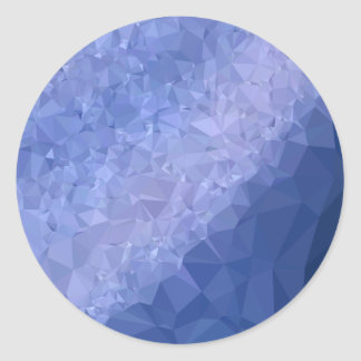Steel Blue Abstract Low Polygon Background Round Sticker