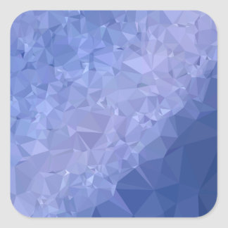 Steel Blue Abstract Low Polygon Background Square Sticker