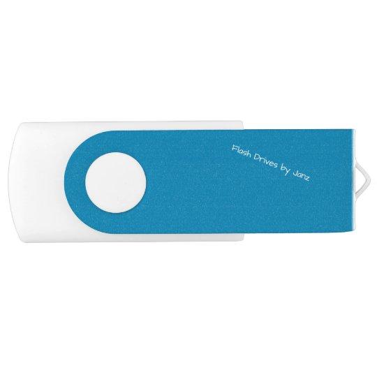 Steel Blue Flash Drives by Janz Swivel USB 3.0 Flash Drive