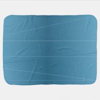Steel Blue Line Print Baby Blanket