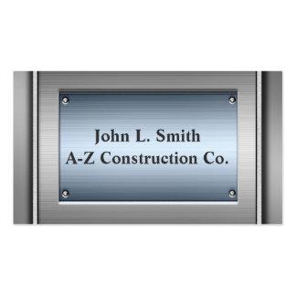 Steel Blue Metal Business Cards