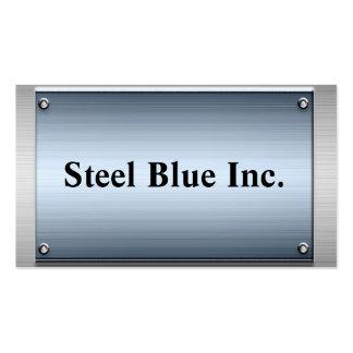 Steel Blue Metal Frame Business Cards