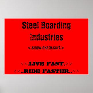 Steel Boarding Poster