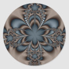 Steel butterflower classic round sticker