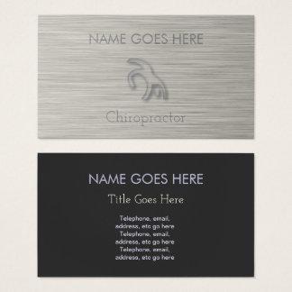"""Steel"" Chiropractor Business Cards"