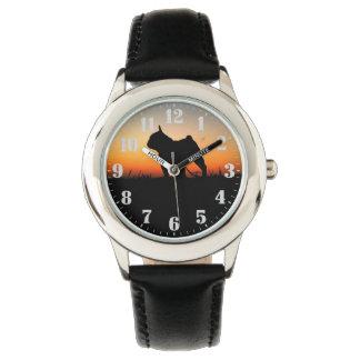 "Steel clock ""Buldog put-pity-sun "" Wristwatch"