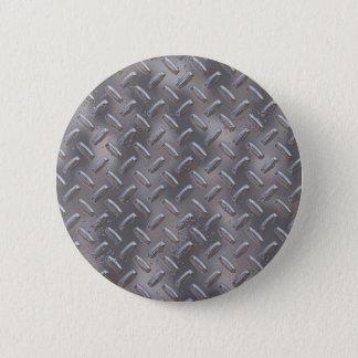 Steel Diamond Plate 2 Inch Round Button
