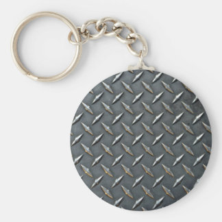Steel diamond plate keychain