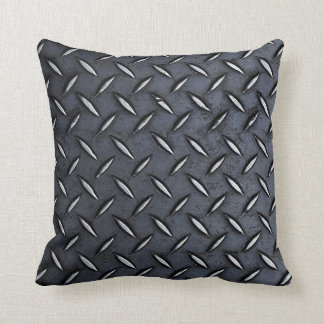 Steel Diamond Plate Look pillow