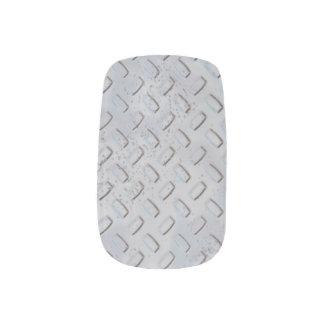 Steel Diamond Plate Pattern Manicure - Minx Nail Art