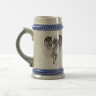 Steel dragon beer stein