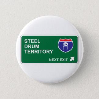 Steel Drum Next Exit 2 Inch Round Button