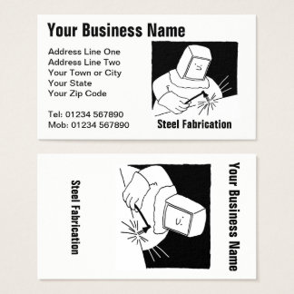 Steel Fabrication Cartoon Business Card
