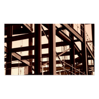 Steel Frame Construction II Mini Photo Business Cards
