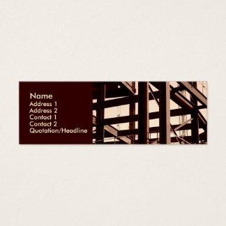 Steel Frame Construction Mini Business Card