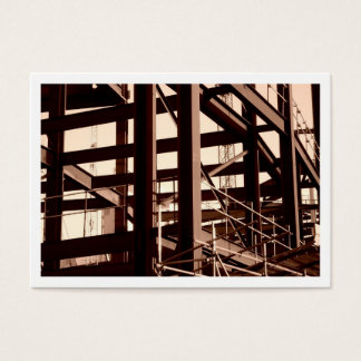 Steel Frame Construction, Mini Photo (Bordered) Business Card