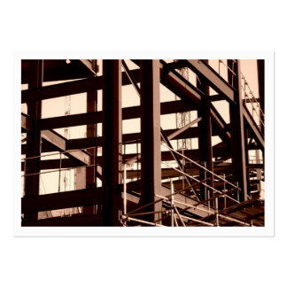 Steel Frame Construction, Mini Photo (Bordered) Business Card Template