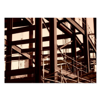 Steel Frame Construction, Mini Photo Large Business Card