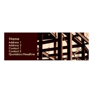 Steel Frame Construction Pack Of Skinny Business Cards