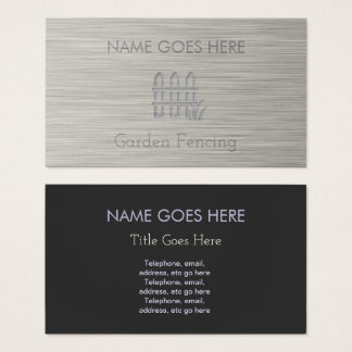 """""""Steel"""" Garden Fencing Business Cards"""