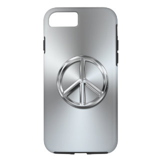 Steel Gradient Graphic Peace Symbol iPhone 7 Case
