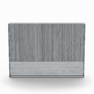 Steel Gray Bamboo Border Wood Grain Look