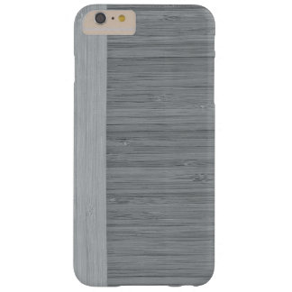 Steel Gray Bamboo Border Wood Grain Look Barely There iPhone 6 Plus Case