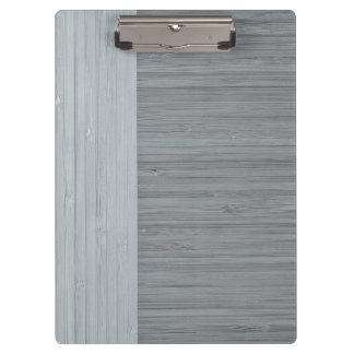 Steel Gray Bamboo Border Wood Grain Look Clipboard