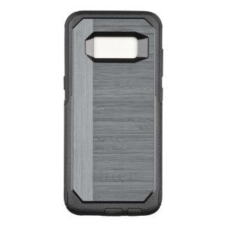Steel Gray Bamboo Border Wood Grain Look OtterBox Commuter Samsung Galaxy S8 Case