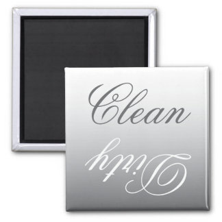 Steel Gray Ombre Dishwasher Clean/Dirty Magnet