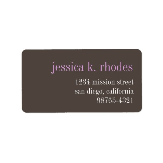 Steel grey lilac typography modern return address label