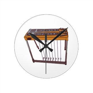 Steel Guitar Round Clock