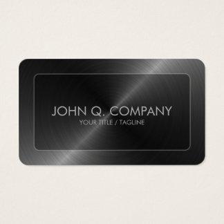 Steel Look Round Corners Business Card