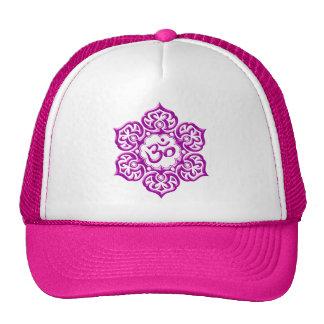 Steel Lotus Flower Om Design - purple Trucker Hat