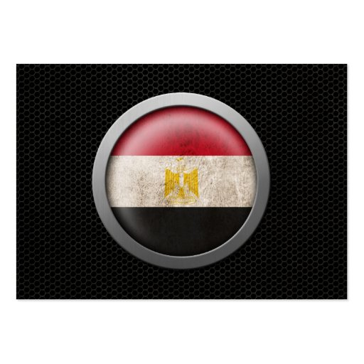 Steel Mesh Egyptian Flag Disc Graphic Business Card