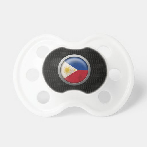 Steel Mesh Filipino Flag Disc Graphic Pacifiers